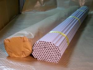 POP用パイプ  塩ビパイプ(白)外径10㎜×内径8㎜φ×長さ500mm品・735mm品