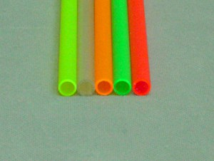 ABSパイプ(蛍光色) 外径9mmφ×内径7㎜φ