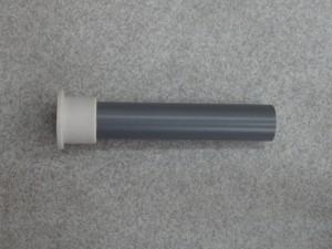外径28㎜ 塩ビパイプ と外径合せ込みパーツを組み込んだ状態