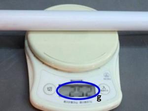 通常サイズの塩ビパイプ 外径27㎜φ 厚み1.5㎜