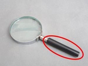 塩ビ丸棒使用例 点眼鏡の握り柄